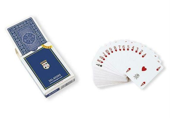 CARTE DA POKER IN CARTONCINO RETRO SAINT MORITZ BLU