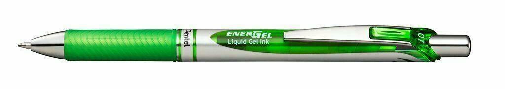 PENNA GEL A SCATTO PENTEL ENERGEL XM 0,7mm LIME